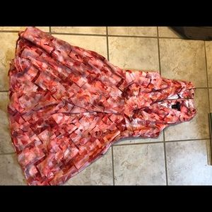White House Black Market spring dress. coral. NWT